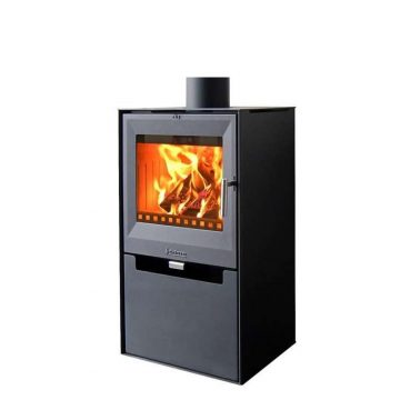 Warm Air Fire Aduro 14 Steel, Black, 6,5 KW Cubic Design
