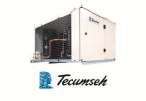 Three-quarter view of a commercial air conditioning unit serviced by ServTech